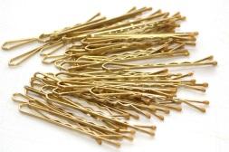 gold bobbypins