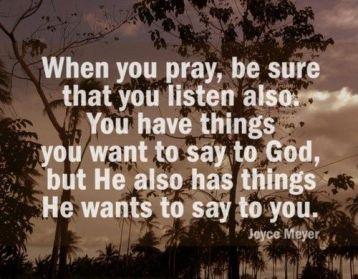 pray, listen
