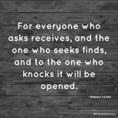 ask,seek,knock