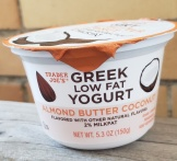 Image result for trader joe's almond butter coconut greek yogurt